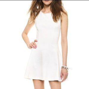 Free People White Cha Cha Mini Skater Dress